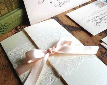 "Wedding Invitation Gatefold, Love No. 3 ""Pemberly"""