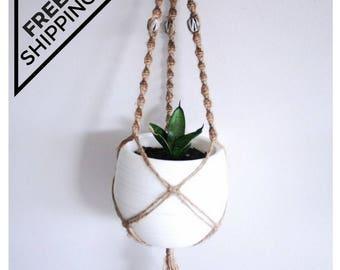 SALE / Macrame plant hanger, plant hanger, pot holder