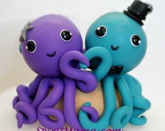 BENUTZERDEFINIERTE Octopus Hochzeitstorte Topper