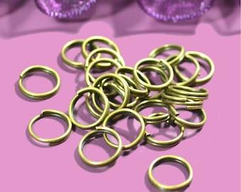 Double 6mm bronze rings