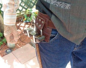 Dark Walnut Stain  Design Artisan Made Walking Cane and Cane Holder Attachment