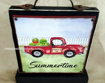 Summer Red Truck & Watermelon Block of the Month SET