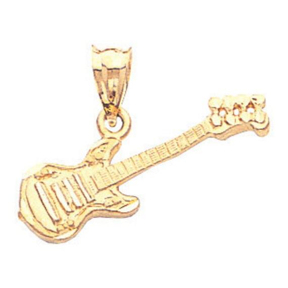 14k yellow gold guitar pendant guitar pendant guitar aloadofball Choice Image