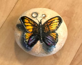 Butterfly Hand Painted Stone