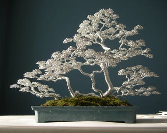 Wire Bonsai (Wire Tree Sculpture), Mother's day gift, Wedding gifts