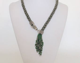 Green Dragon Beaded Necklace MADE TO ORDER