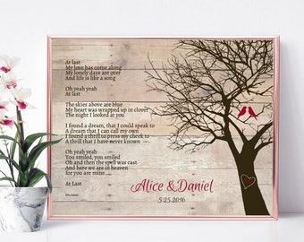 Wedding Song Lyric Art, Wedding Gift, First Dance Song, First Dance Lyrics, Anniversary Gift, Custom Art Print Song Lyrics