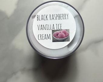 Black razz vanilla ice cream