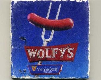 Wolfy's - Original Coaster