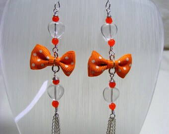 Chalcedony and Quartz Dangle Earrings