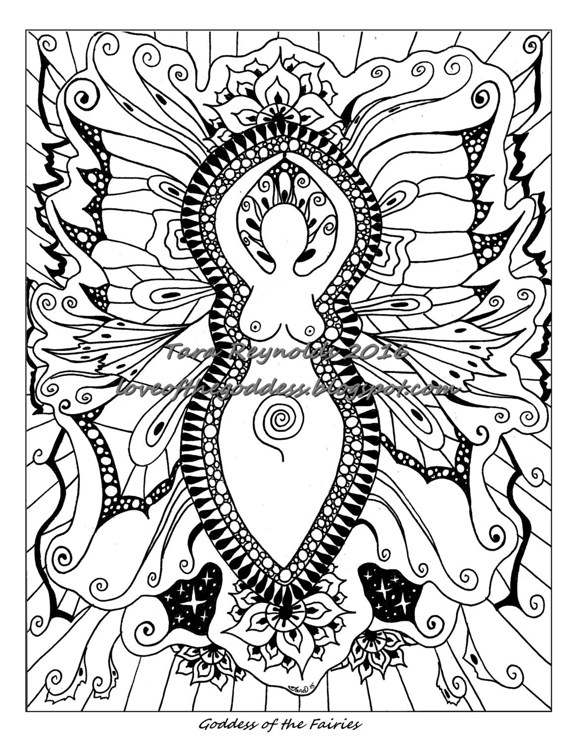 Fairy Art Fairy Coloring Page Printable Coloring Page