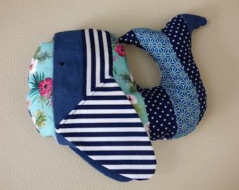 Plush whale Martin/Whale plush fabric