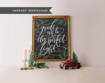 Christmas printable, printable wall art, printable christmas art, printable wisdom, Chalkboard christmas christmas decoration, holiday decor