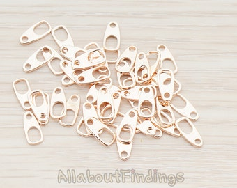 BSC165-RG // Glossy Rose Gold Plated Clasp Bar, 20 Pc