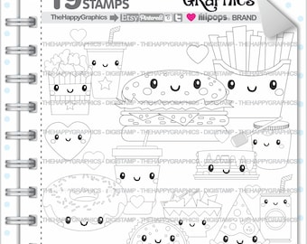 Love Stamps 80OFF Commercial Use Digi Stamp Digital Image Digistamp Coloring Page Valentines Day Food Perfect Pair