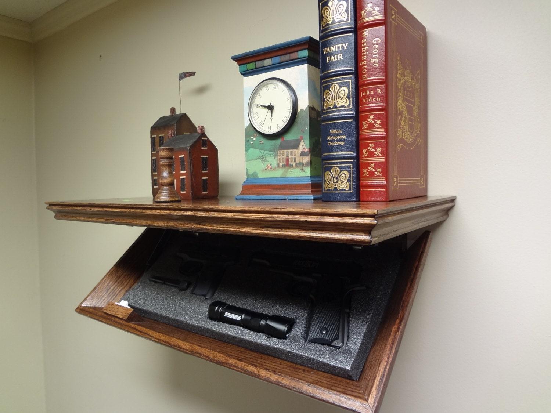 23 Concealment Shelf Oak With Magnetic Lock 23m Timbuck2