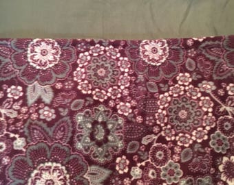 Purple and gray paisley with gray-short