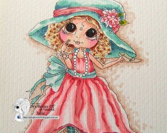 INSTANT DOWNLOAD digitale Digi Stamps Big Eye Big Head poppen img069 Bestie door Sherri Baldy
