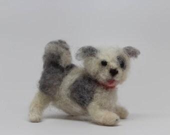 Wool Needle Felted Dog