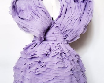 Effie Purple Ruffle Dress