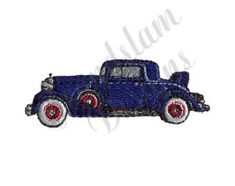 Antique Coupe Car - Machine Embroidery Design