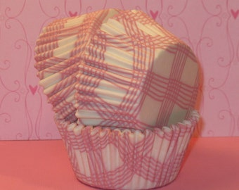 Pink Country Plaid Cupcake Liners  (45)