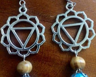 Solar Plexus Chakra Turqoise Earrings