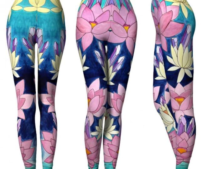 SYNERGY Leggings / Yoga Leggings/ Lotus/ Crystal