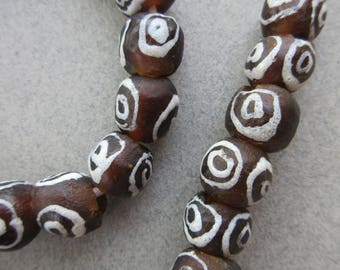 Krobo Glass Beads (10-11x9-10mm) [67454]