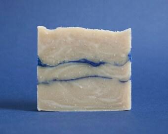 Soap rhassoul blue marbling