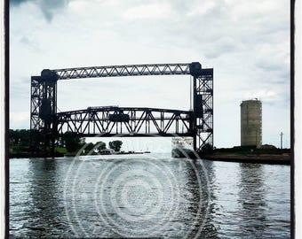 Cleveland Ohio Flats bridge photo