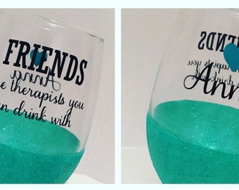 Friends Stemless Wine Glasses