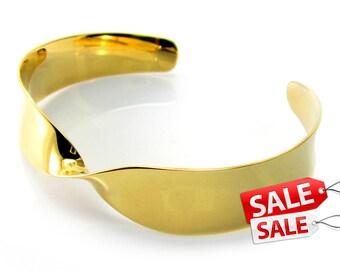 Simple Gold Cuff Bracelet Simple Gold Bracelet Cuff Simple Gold Brass Cuff Bracelet Simple Gold Brass Bracelet Cuff 091