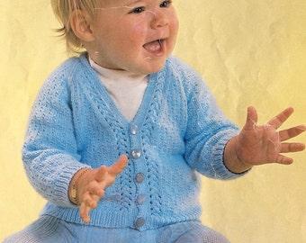 Vintage Baby Cardigan Pattern. Pdf.
