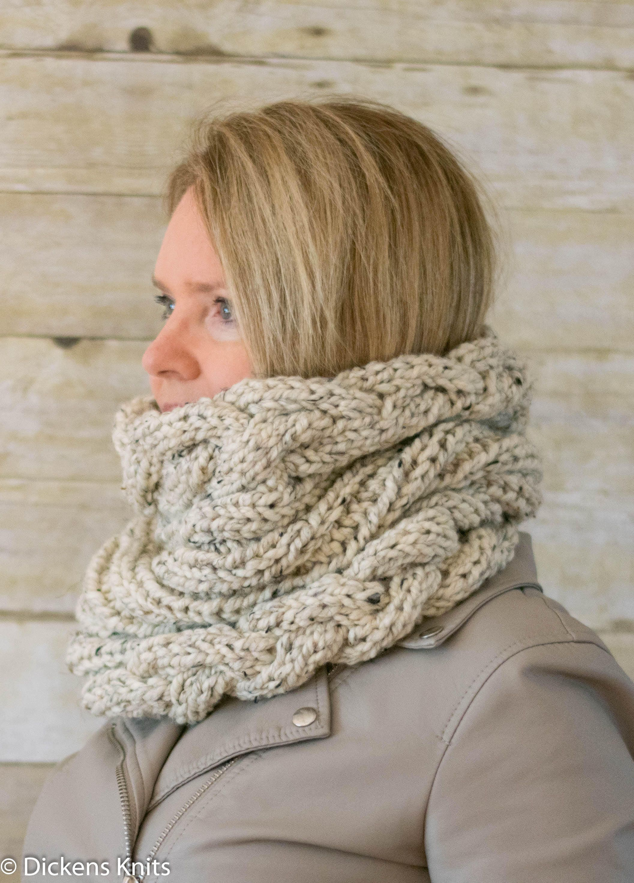 PDF KNITTING PATTERN, Cable Knit Infinity Scarf Snood Pattern, Cable ...