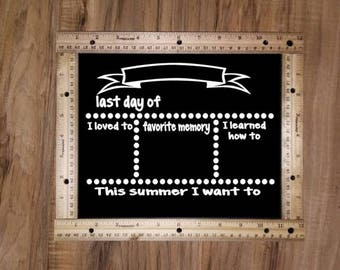 First and Last Day of School Chalkboard sign set, Photo Prop, Back to school, Child Chalkboard, 1st day sign, Rulers