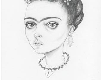 Frida Kahlo, an A6 postcard