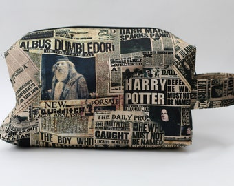 The Daily Prophet CANVAS Medium Knitting & Crochet Project/Toiletry Box Bag