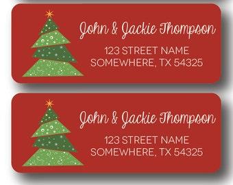 Christmas Return Address Labels - Christmas Tree