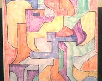 Dimensional Composition in Color --- Original Hyper-Cubism