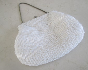 Du Val Beaded Purse with Chain Handle