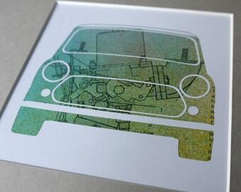 Mini Cooper Carburetor - Unique, Original Framed Austin Rover Mini Artwork - Made from vintage car workshop manual