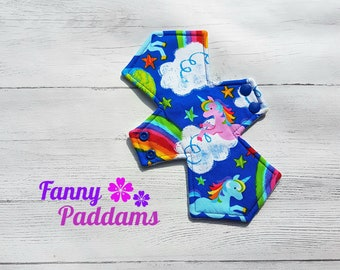 Rainbows and Unicorns - 100% Cotton - Custom Order - Cloth Menstrual / Sanitary Pad - (CSP) - Reusable