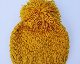 Baby Hand Knit Beanie // Kids Handmade Winter Hat