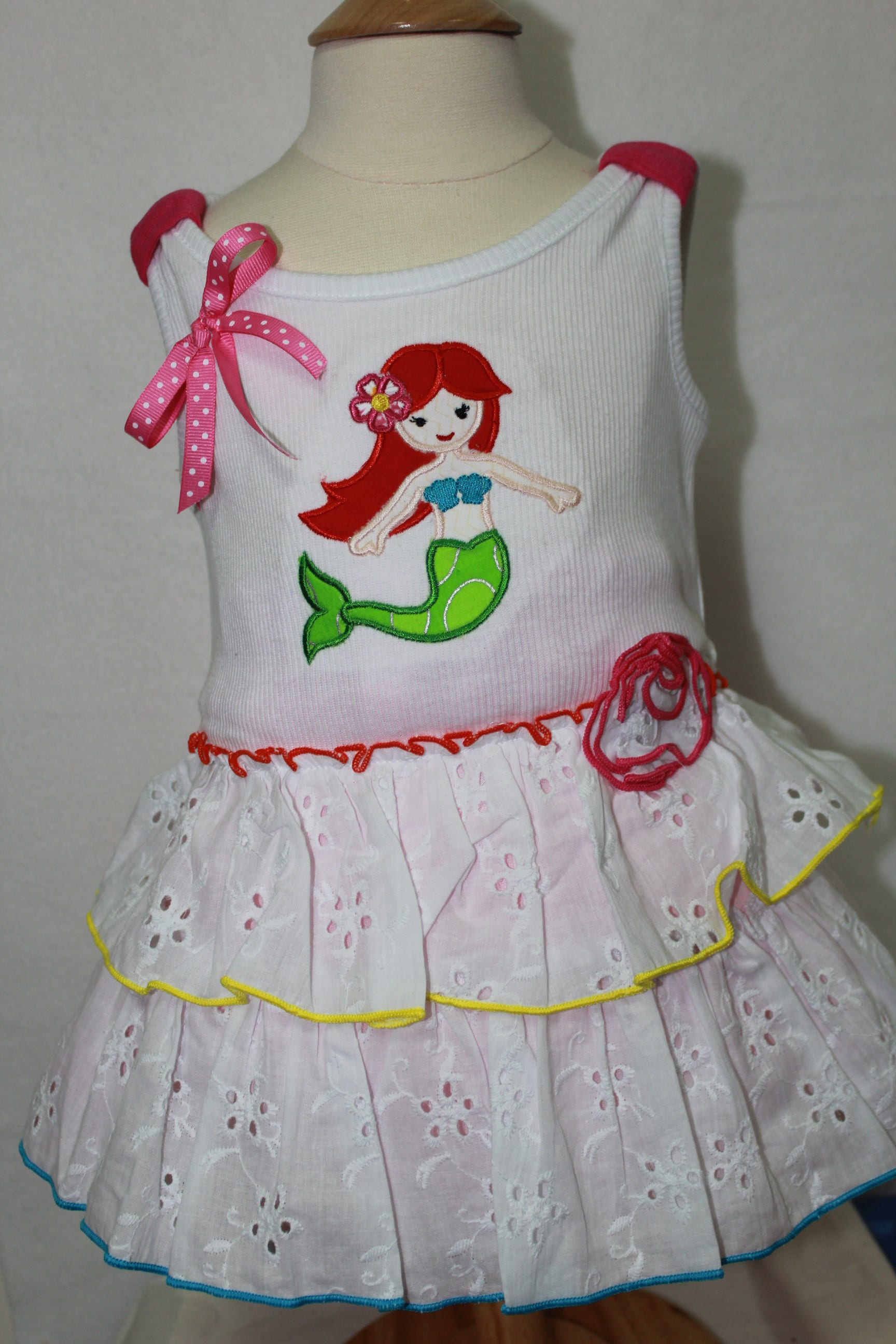 Little Mermaid mermaid Dress summer dress Disney beach handmade