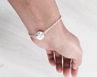 bracelet with marble ball, simple dainty bracelet