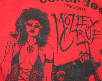 M * vtg 80s 1987 Motley Crue Virginia promoter staff concert tour muscle t shirt * 49.126