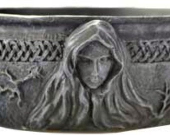 """Maiden Mother & Crone Scrying Bowl 5 1/2"""" Wicca Pagan Celtic Lunar Evocation Divination Free Domestic Shipping!"""