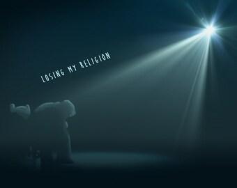 Losing My Religion   REM Michael Stipe Inspired Lyric Art Print