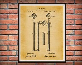 1892 Dental Mirror Patent Print - Dental Poster - Dentist Office Decor - Orthodontic Decor - Dental Hygienist Gift idea - Dental Tool Print